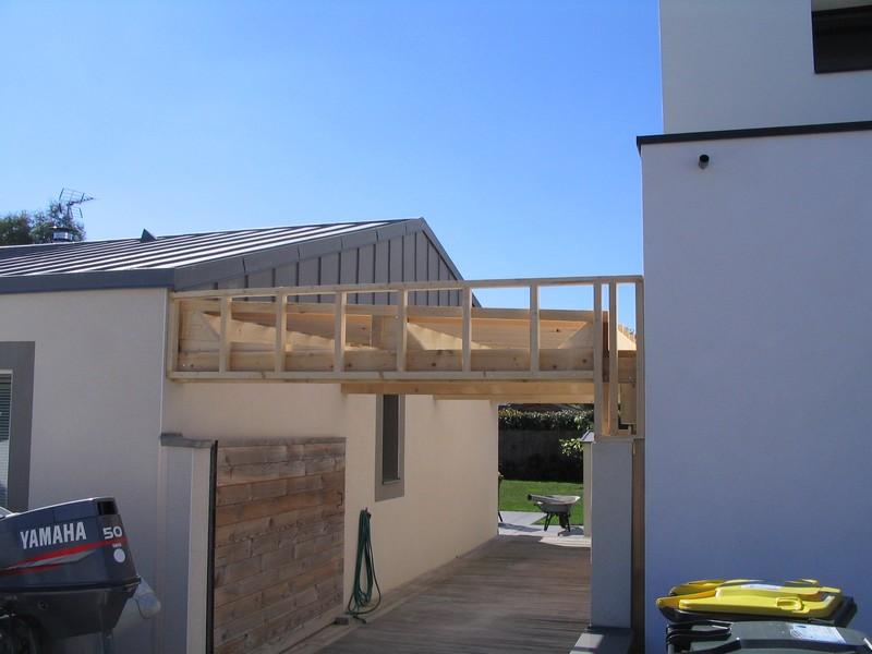extension pergola preau veranda carport dam menuiseries. Black Bedroom Furniture Sets. Home Design Ideas