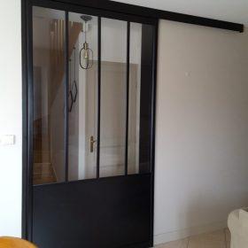 Porte de séparation de pièce verrière