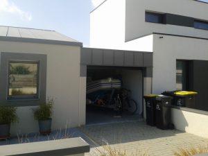 Carport terminé avec toiture zing