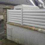 clôture PVC blanche