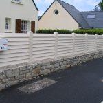 clôture sur muret en PVC