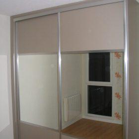 Façade de placard 2 vantaux coulissant miroir