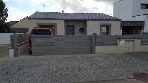 Portail et clôture assortie en ALU