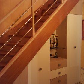Aménagement sous escalier et changement de la rampe d'escalier
